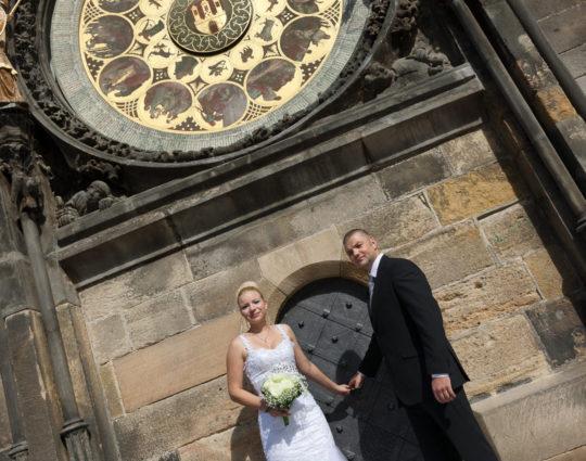Svatební fotografie Staroměstská radnice, orloj