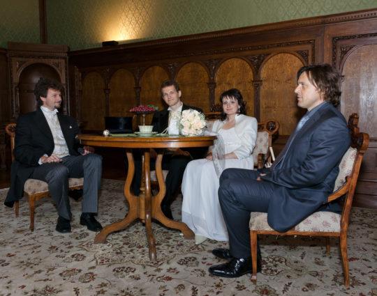 Svatební fotografie zámek Blansko, Muzeum Blansko