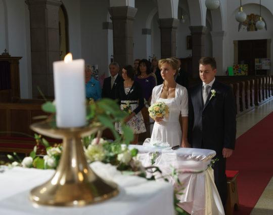Svatba v kostele svatého Cyrila a Metoděje